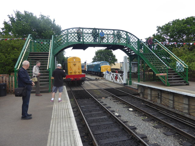 The footbridge at North Weald station