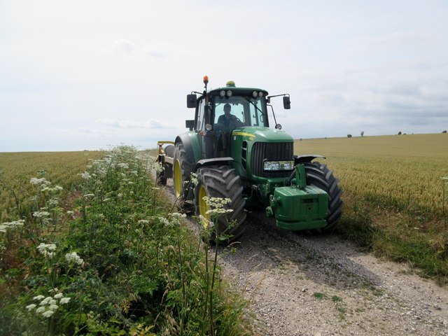 Tractor on farm track