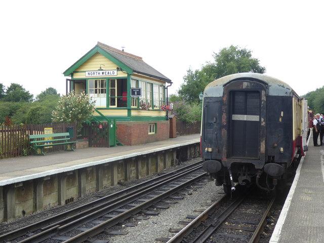 Signal box at North Weald station