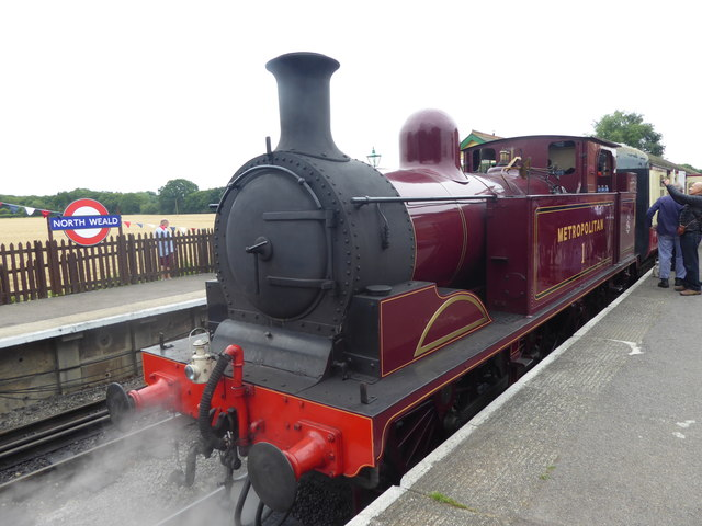 Visiting heritage steam engine at North Weald station
