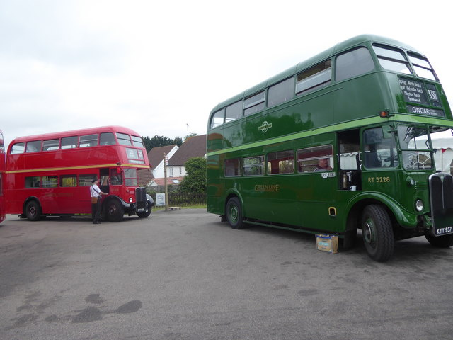 Heritage RT buses at North Weald station