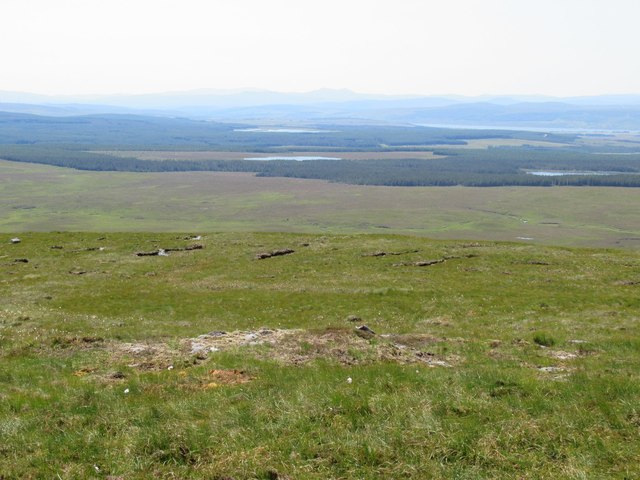View south off Sron Leathad Chleansaid above Dalnessie, Lairg