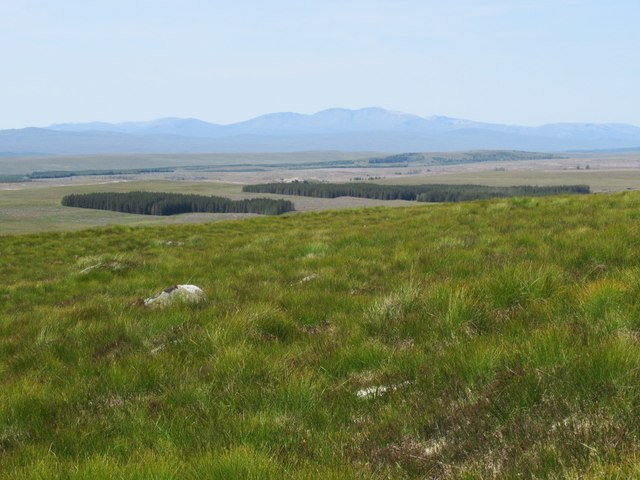 View west off Sron Leathad Chleansaid above Dalnessie, Lairg