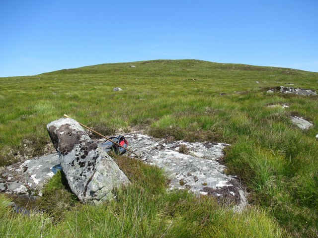 Bare rock on Sron Leathad Chleansaid above Dalnessie, Lairg