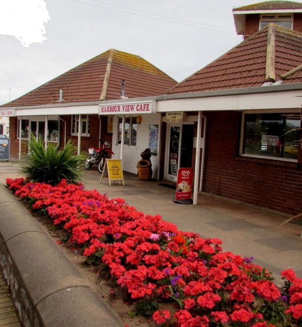 Flowerbed in front of Harbour View Cafe, Exmouth