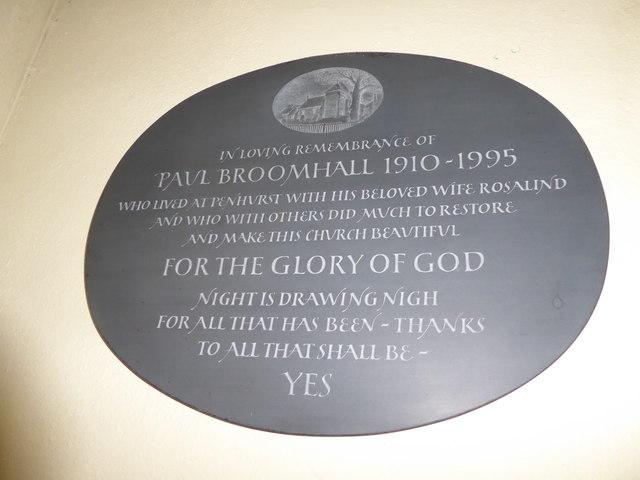 St Michael, Penhurst: memorial (b)