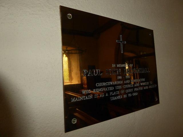 St Michael, Penhurst: memorial (d)