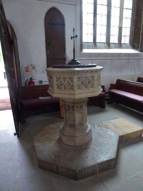 St Mary, Yatton: font