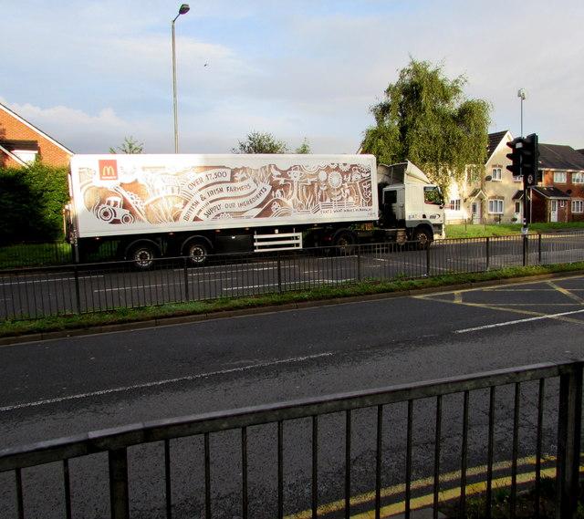 McDonald's articulated lorry, Malpas Road, Newport