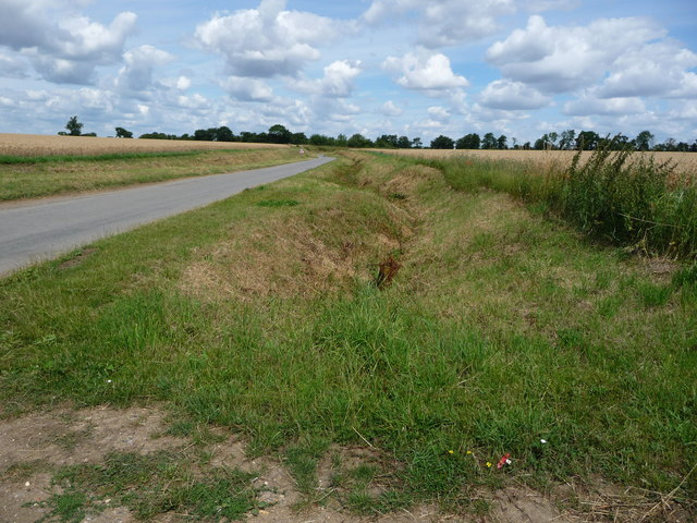 Drainage ditch on the east side of Mellis Road
