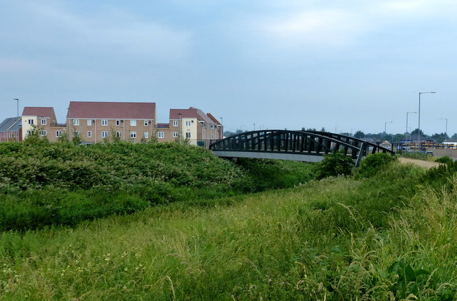 Footbridge across the River Nar at South Lynn