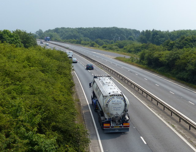 A47 on the southern edge of King's Lynn