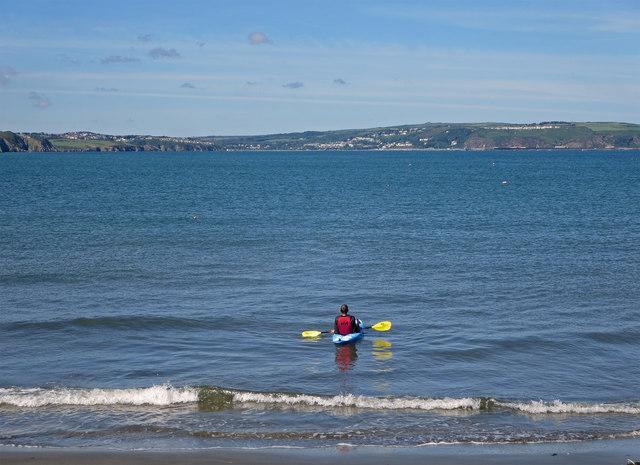 Fishguard Bay from Pwllgwaelod