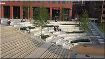 SU7173 : New amphitheatre in Station Square, Reading by Chris Wood