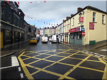 H4472 : Road junction, John Street, Omagh by Kenneth  Allen