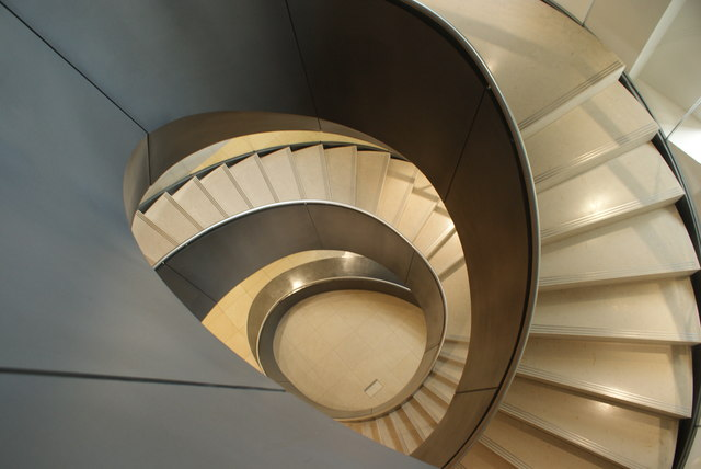 View down the spiral staircase in the Wellcome Collection #2