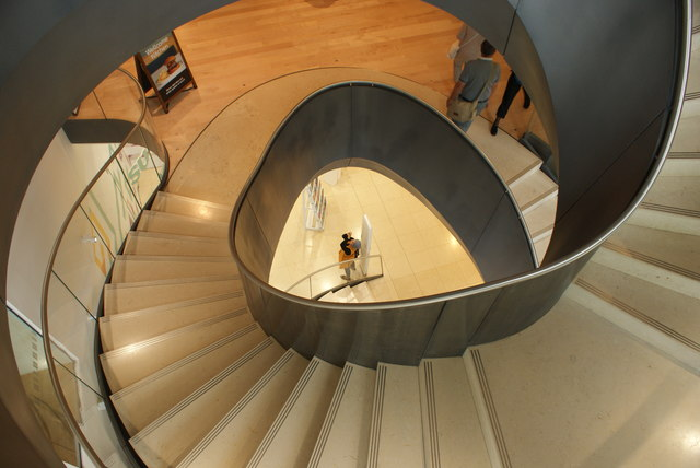 View down the spiral staircase in the Wellcome Collection #3