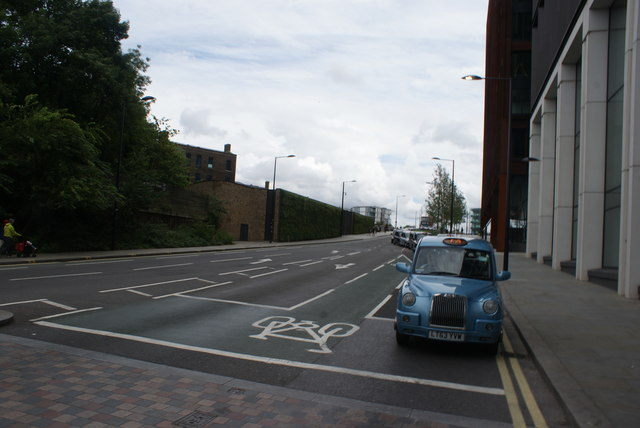 View up Goods Way from Pancras Road