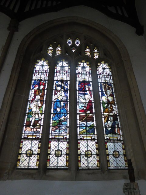 St Mary, Yatton: stained glass window (b)