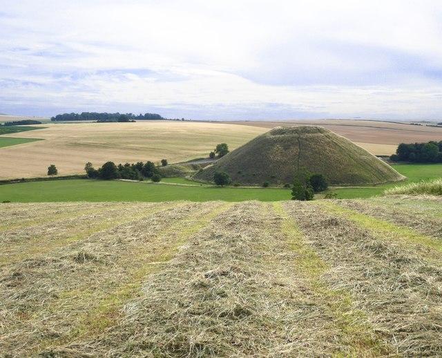 Silbury Hill from Waden Hill