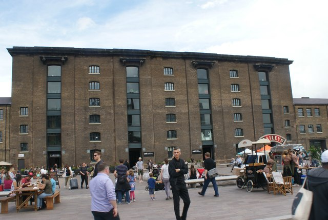 View of the University of Arts London from Granary Square