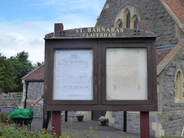 St. Barnabas Church, Claverham: noticeboard