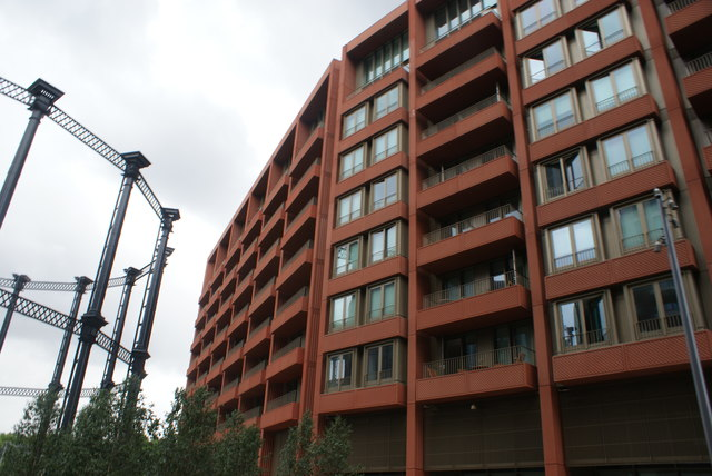 View of Tapestry Apartments from Gasholder Park