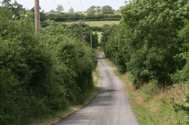 Narrow road from A1 to North Witham