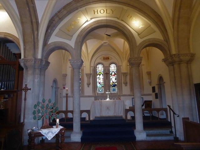Inside Holy Trinity, Cleeve (a)