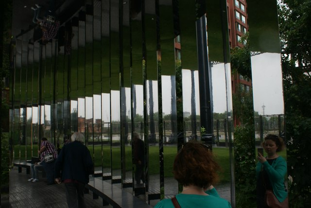 View of mirrors in Gasholder Park #3