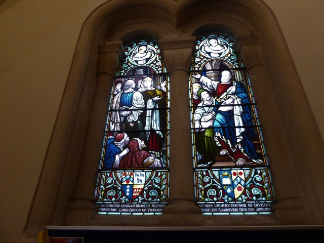 Holy Trinity, Cleeve: stained glass window (c)