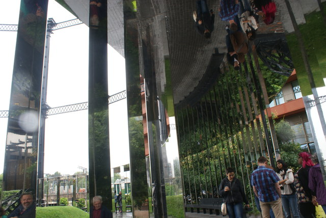 View of mirrors in Gasholder Park #4