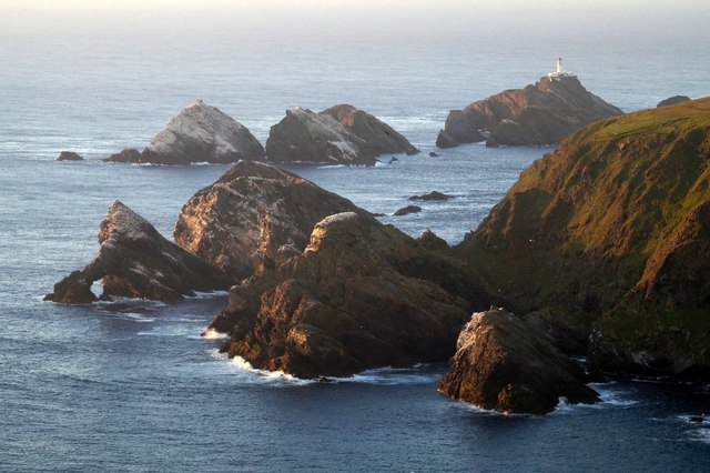 Stacks west of Hermaness Hill and Muckle Flugga, from the Neap