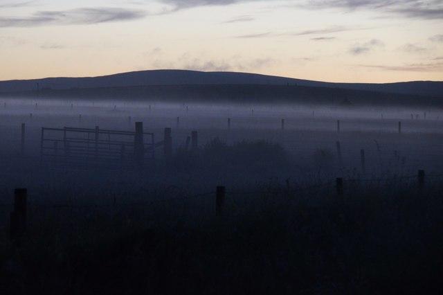 'Daala mist' at Haroldswick