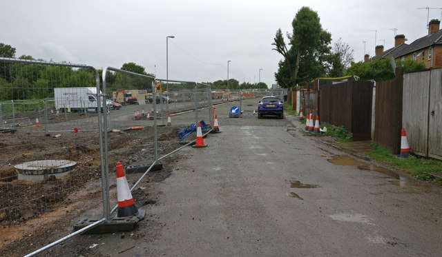 Construction work next to the Old Saffron Lane