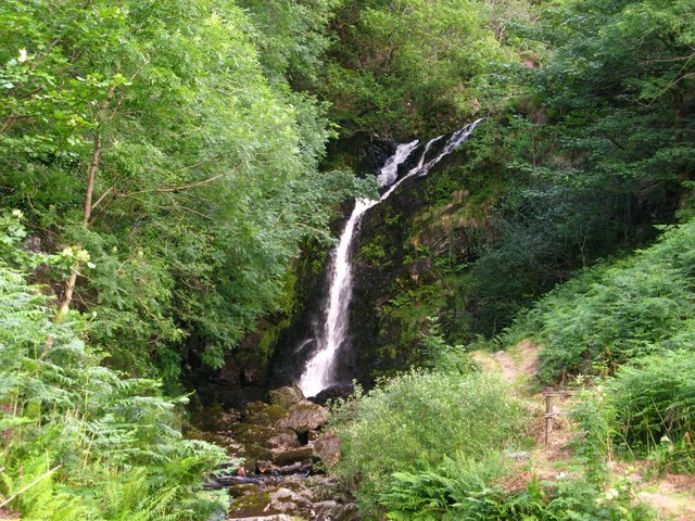 Grey Mare's Tail Waterfall, north-east of Newton Stewart