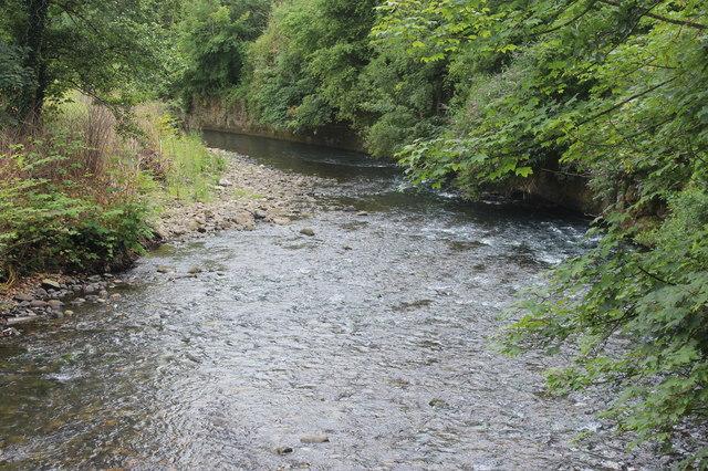 River Ebbw downstream from footbridge