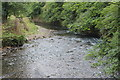 ST2688 : River Ebbw downstream from footbridge by M J Roscoe