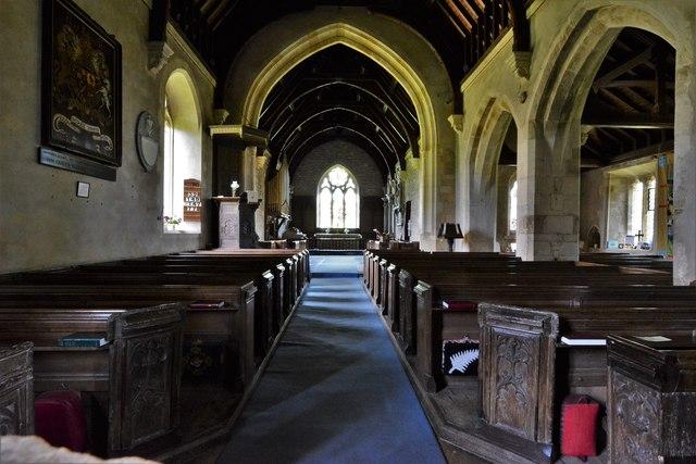 Ebrington, St. Eadburgha's Church: The nave