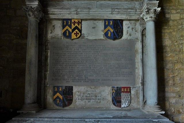 Ebrington, St. Eadburgha's Church: Sir William Keyte memorial 1
