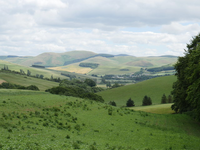 A View To Kirk Yetholm From Worm's Hole