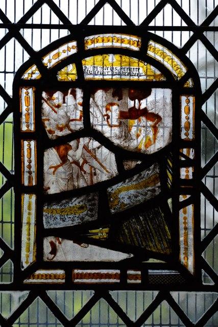 Ebrington, St. Eadburgha's Church: c16th Flemish glass in the south chancel window