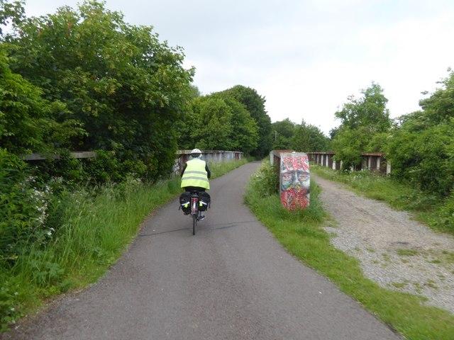 Bristol and Bath cycle path crossing River Avon