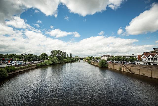 Train Bridge and River Severn