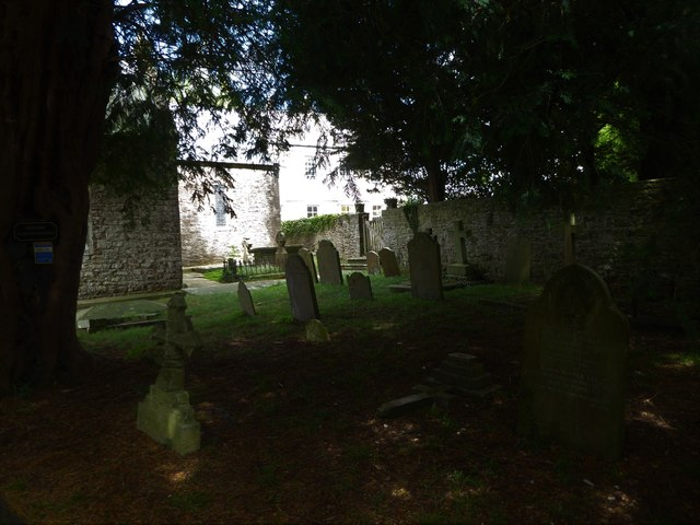 St Nicholas, Brockley: shadows in the churchyard