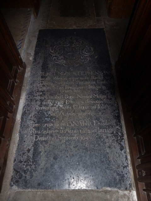 St Nicholas, Brockley: ledger slab