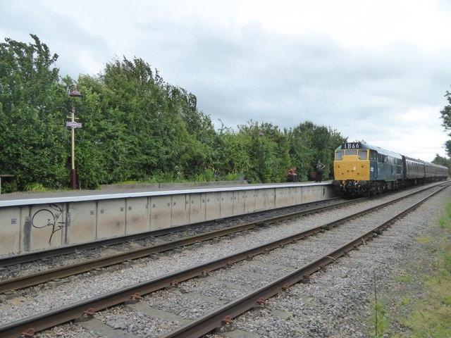 Diesel train at Avon Riverside station