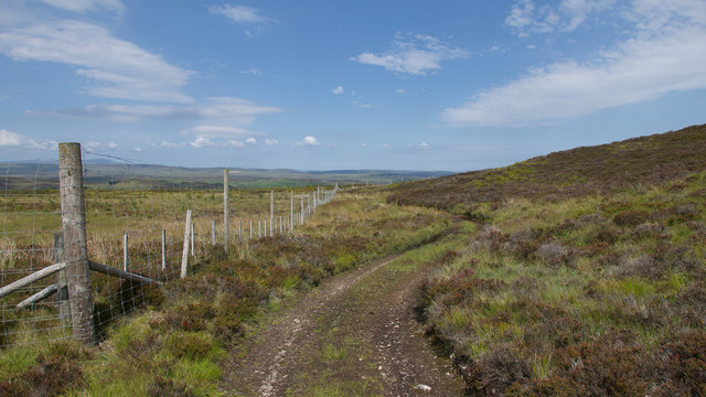 Path from Creagan Glas to Strath Fleet