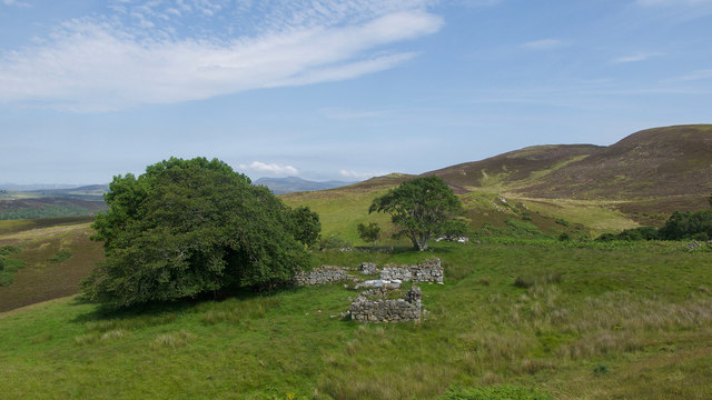 Ruined croft house of Corryachvrail