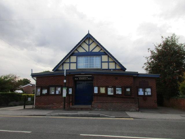 The War Memorial Hall, Collingham